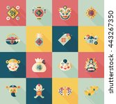 chinese new year icons set | Shutterstock .eps vector #443267350