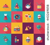 celebration and birthday icons...   Shutterstock .eps vector #443269858