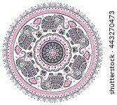 vintage graphic vector indian... | Shutterstock .eps vector #443270473
