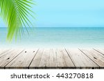 old wood table top on blurred... | Shutterstock . vector #443270818