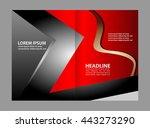 bi fold brochure template... | Shutterstock .eps vector #443273290