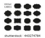vintage label.decorative frame... | Shutterstock .eps vector #443274784
