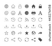 web icons  included normal and... | Shutterstock .eps vector #443276458