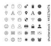 setting icons  included normal... | Shutterstock .eps vector #443276476
