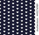 love and heart seamless pattern ... | Shutterstock .eps vector #443276989