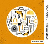 construction tools set . vector ... | Shutterstock .eps vector #443279923
