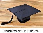 hats graduates on wood... | Shutterstock . vector #443285698