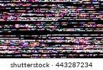 glitch random digital signal... | Shutterstock . vector #443287234