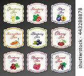 set of isolated labels for jam...   Shutterstock .eps vector #443288878