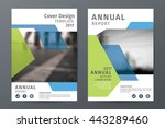 abstract  annual report... | Shutterstock .eps vector #443289460