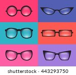 set realistic various ... | Shutterstock .eps vector #443293750