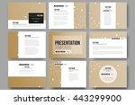 set of 9 vector templates for...   Shutterstock .eps vector #443299900