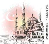 vector hand sketched... | Shutterstock .eps vector #443301148