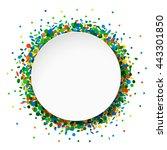 confetti round frame | Shutterstock . vector #443301850