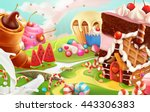 sweet landscape  vector... | Shutterstock .eps vector #443306383