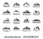 Mountain Vector Logo Icons Set...
