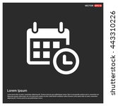 web line icon. calendar | Shutterstock .eps vector #443310226
