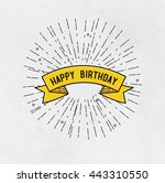 happy birthday  flat design... | Shutterstock . vector #443310550