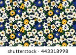 trendy seamless floral pattern... | Shutterstock .eps vector #443318998