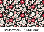 trendy seamless floral pattern... | Shutterstock .eps vector #443319004