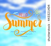 """hello summer"" lettering based... 