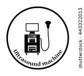ultrasound diagnostic machine... | Shutterstock .eps vector #443322013