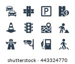 vector road traffic related... | Shutterstock .eps vector #443324770