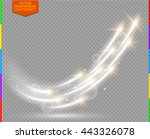 abstract vector magic glow star ... | Shutterstock .eps vector #443326078