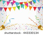 party background with white... | Shutterstock .eps vector #443330134