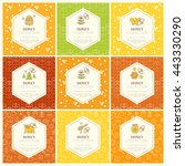 vector packaging template with... | Shutterstock .eps vector #443330290
