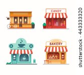 set of shops and stores... | Shutterstock .eps vector #443333320