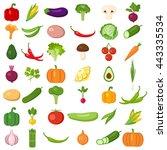 set of vegetables. different... | Shutterstock .eps vector #443335534
