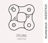 logo or label cycling chain.... | Shutterstock .eps vector #443337424