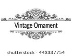 vintage calligraphic ornament ... | Shutterstock .eps vector #443337754