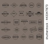 icon symbol badge logo... | Shutterstock .eps vector #443347873