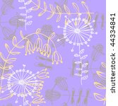 seamless floral pattern | Shutterstock .eps vector #44334841