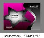 blue brochure template  | Shutterstock .eps vector #443351740