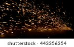 bright sparks of metal against... | Shutterstock . vector #443356354