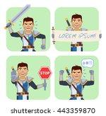 vector illustration of a... | Shutterstock .eps vector #443359870