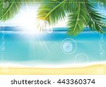 Summer Seaside Background With...