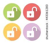 open lock protection symbol...