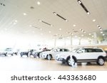 blurred dealership store  with... | Shutterstock . vector #443363680