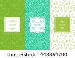 vector set of design elements ... | Shutterstock .eps vector #443364700
