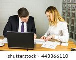young business colleagues... | Shutterstock . vector #443366110