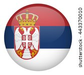 serbia flag button | Shutterstock .eps vector #443370010
