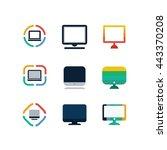 computer technology office... | Shutterstock .eps vector #443370208
