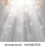 light flare special effect with ... | Shutterstock .eps vector #443381920