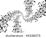 music notes fresh background | Shutterstock .eps vector #44338375