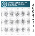 big icon shopping icon commerce ... | Shutterstock .eps vector #443383984