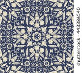 seamless turkish pattern in... | Shutterstock .eps vector #443386540